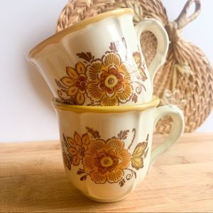 Poppy Trail Vintage Boho Tea Cups